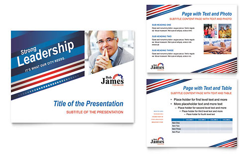 Political Campaign PowerPoint Presentation Template - Microsoft Office