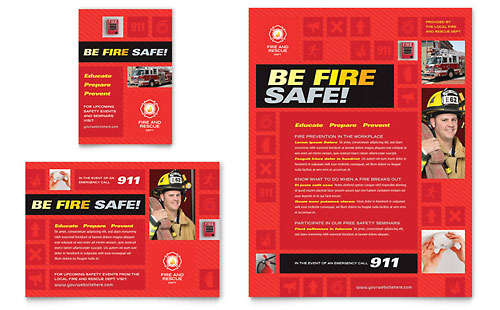 Fire Safety Flyer & Ad Template - Microsoft Office