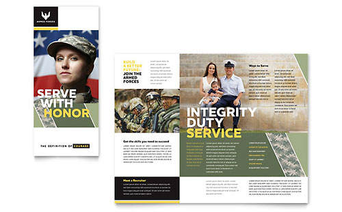 Military Brochure Template - Microsoft Office