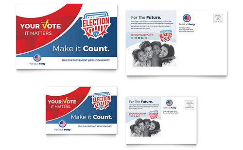 Election Postcard Template - Word & Publisher
