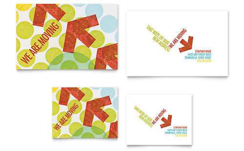 we u0026 39 re moving note card template