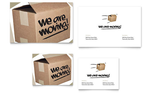 We're Moving Note Card Template - Microsoft Office