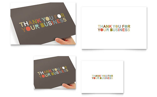 Thank You for Your Business Note Card Template - Microsoft Office