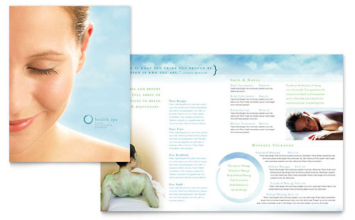 Day Spa & Resort Brochure Template - Microsoft Office