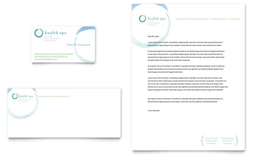 Day Spa & Resort Business Card & Letterhead Template - Microsoft Office