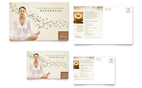 Naturopathic Medicine Postcard Template - Microsoft Office