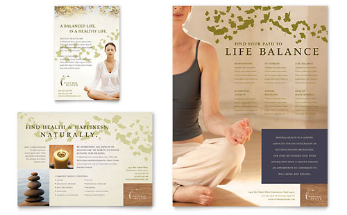 Naturopathic Medicine Flyer & Ad Template - Microsoft Office