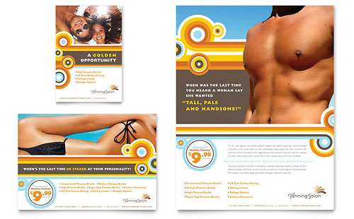 Tanning Salon Flyer & Ad Template Design