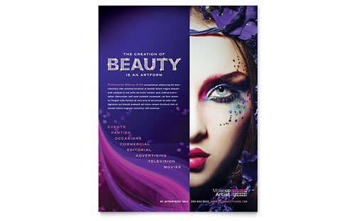 Makeup Artist Flyer Template - Microsoft Office