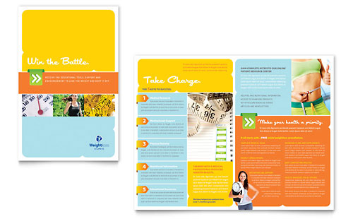 Weight Loss Clinic Brochure Template - Microsoft Office