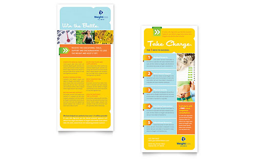 Weight Loss Clinic Rack Card Template - Microsoft Office