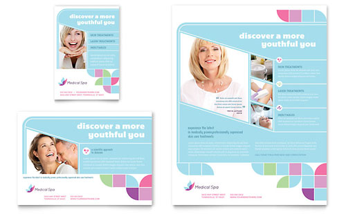 Medical Spa Flyer & Ad Template Design
