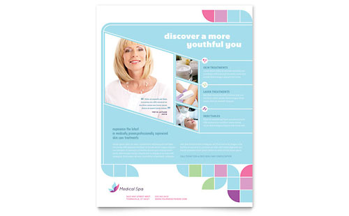 Medical Spa Flyer Template - Microsoft Office
