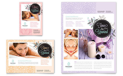 Massage Flyer & Ad Template Design