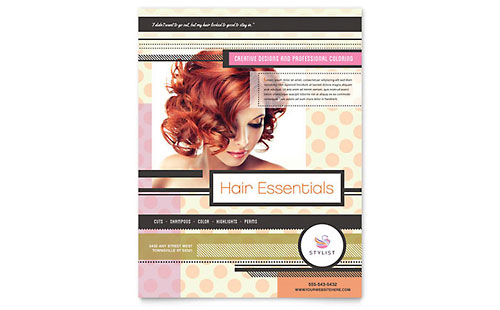 Hairstylist Flyer Template - Microsoft Office