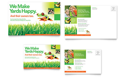 Lawn Maintenance Postcard Template