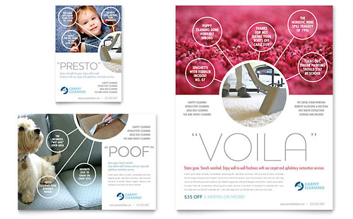 Carpet Cleaning Flyer & Ad Template - Microsoft Office