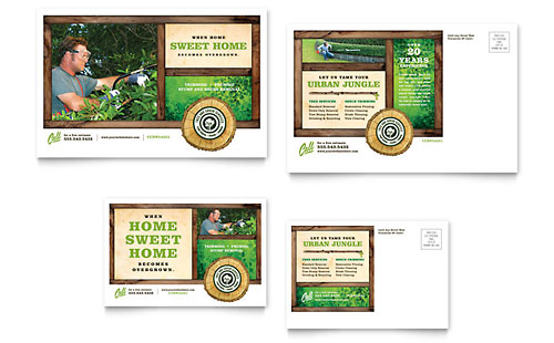 Tree Service Postcard Template - Microsoft Office