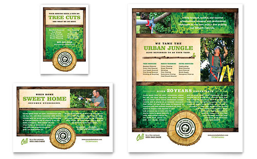 Tree Service Flyer & Ad Template - Microsoft Office