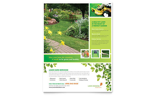 Lawn Mowing Service Flyer Template - Microsoft Office