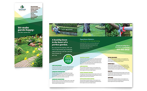Landscaper Brochure Template - Microsoft Office