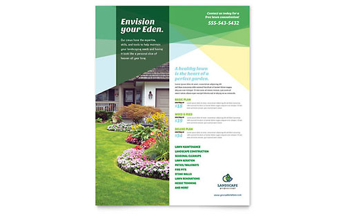 Landscaper Flyer Template - Microsoft Office