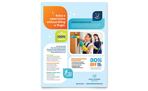 Cleaning Services Flyer Template - Microsoft Office