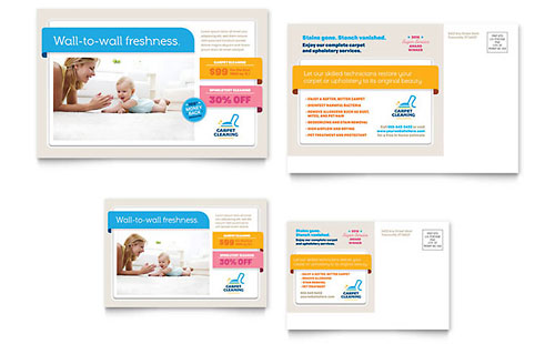 Carpet Cleaning Postcard Template - Microsoft Office