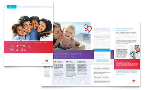 Medical Insurance Brochure Template - Microsoft Office