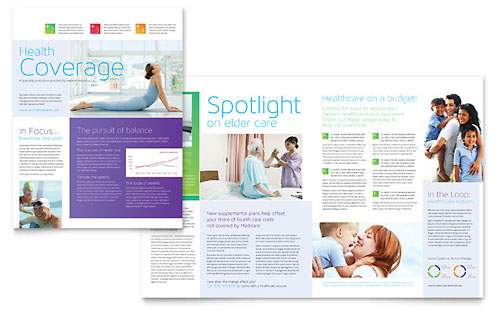 Medical Insurance Newsletter Template - Word & Publisher