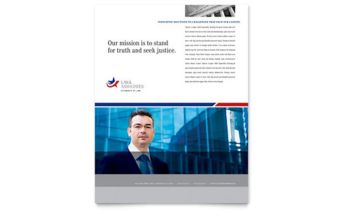 Legal & Government Services Flyer Template - Microsoft Office