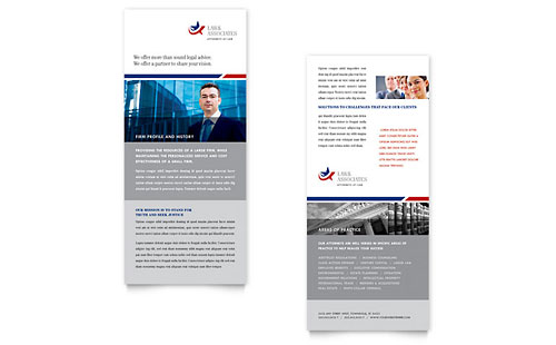 Legal & Government Services Rack Card Template - Microsoft Office