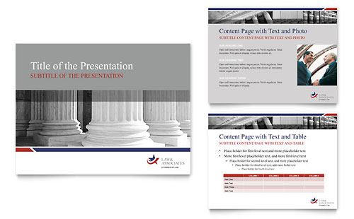 Legal & Government Services PowerPoint Presentation Template - Microsoft Office