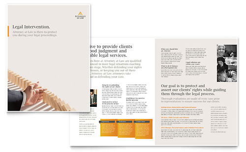 Legal Advocacy Brochure Template - Microsoft Office