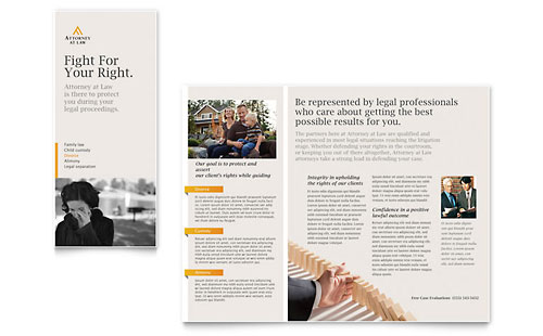Legal Advocacy Tri Fold Brochure Template - Microsoft Office