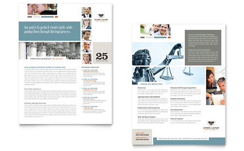 Family Law Attorneys Datasheet Template Design
