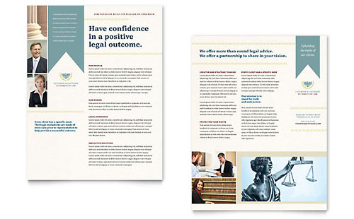 Law Firm Brochure Template  Word  Publisher