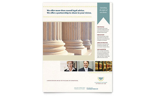 Law Firm Leaflet Template - Word & Publisher