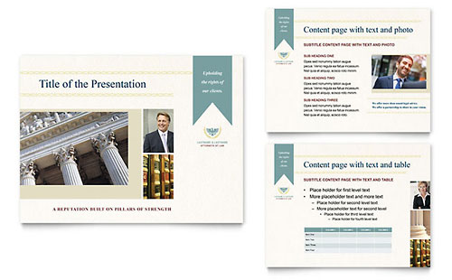 Law Firm Presentation Template - Microsoft PowerPoint