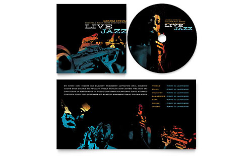 Jazz Music Event CD Booklet Template