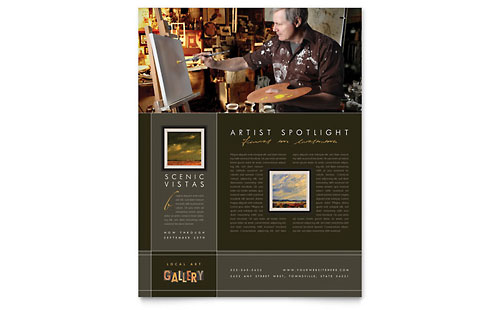 Art Gallery & Artist Flyer Template - Microsoft Office