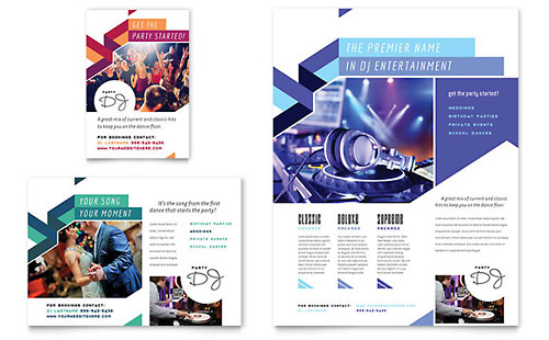 DJ Flyer & Ad Template Design