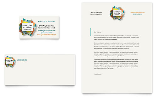Writer's Workshop Business Card & Letterhead Template - Microsoft Office