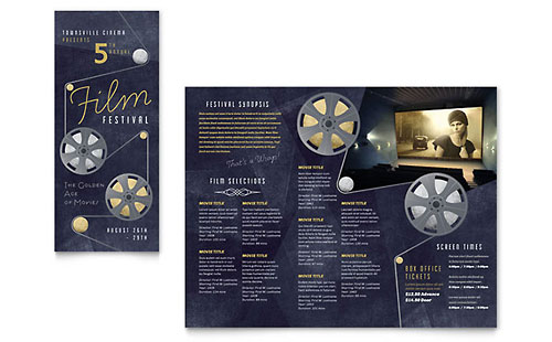 Film Festival Brochure Template - Microsoft Office