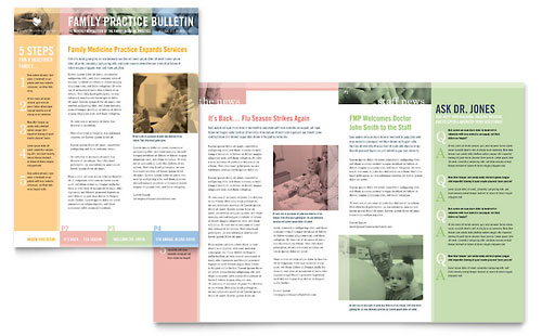 Family Doctor Newsletter Template - Microsoft Office