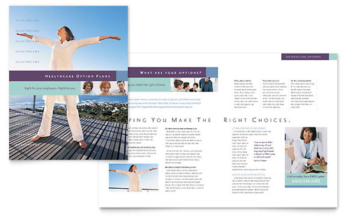 Medical Insurance Company Brochure Template - Microsoft Office