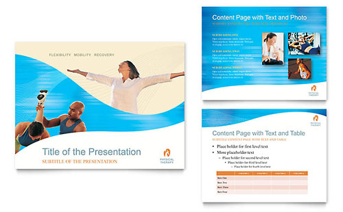 Physical Therapist PowerPoint Presentation Template - Microsoft Office