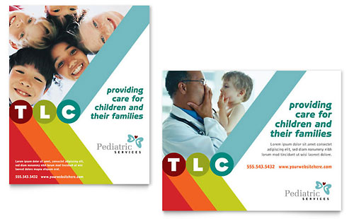 Pediatrician & Child Care Poster Template Design