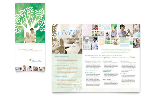 Elder Care & Nursing Home Brochure Template Design