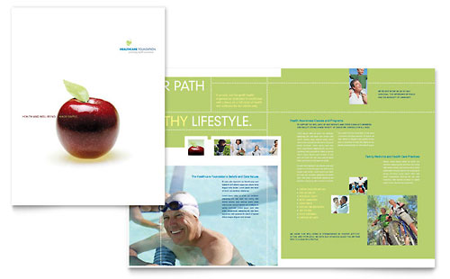 Healthcare Management Brochure Template - Microsoft Office